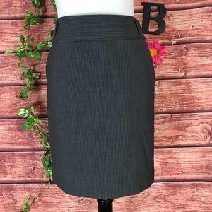 Banana Republic Skirt 2 Gray Pinstripe Wool Pencil